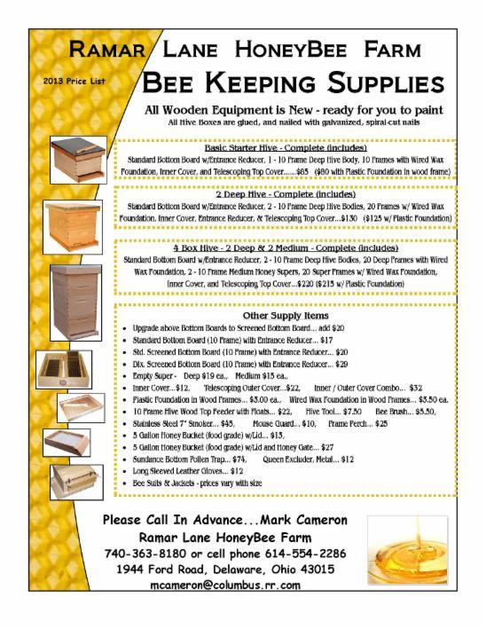 Bee Keeping Supplies - Ramar Lane HoneyBee Farm